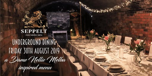 Underground Dining inspired by Dame Nellie Melba