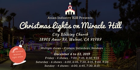 """AIB2B Presents """"Christmas Lights on Miracle Hill"""" tickets"""