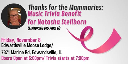 Thanks for the Mammaries:  Music Trivia Benefit for Natasha Stellhorn