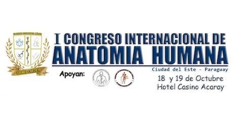 1er. Congreso Internacional de Anatomia Humana entradas