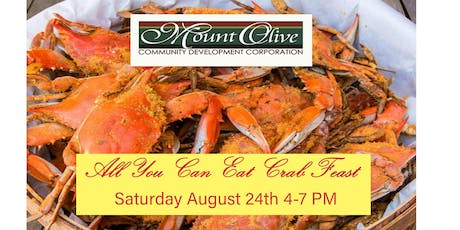 Mount Olive Community Development Center Annual All You Can Eat Crab Feast tickets