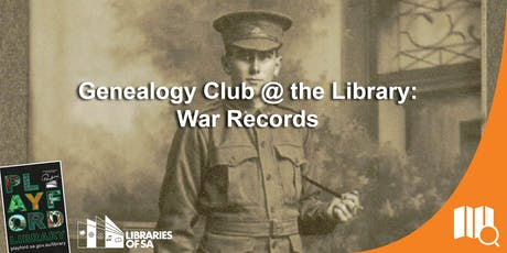 Genealogy Club @ the Library: Uncovering War Records tickets