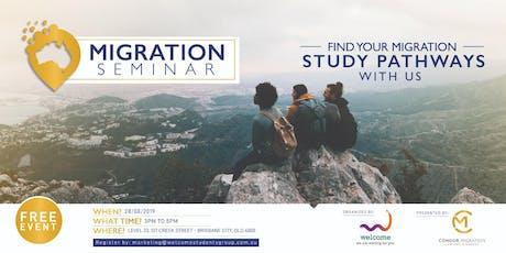 #WelcomeTo Migration Seminar tickets