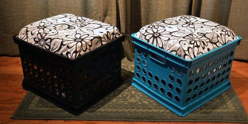 Introduction to Upholstery DIY Upcycled Milkcrate Seat