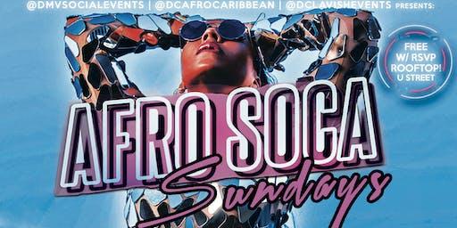 SUN: AFRO SOCA SUNDAYS! $5 Rum Punch|Suya|$15 Hookah