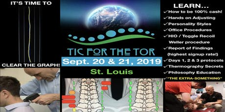 TIC for the TOR EVENT!	  (SEPT. 20-21) tickets