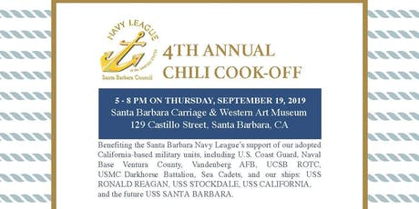 Santa Barbara Navy League's 4th Annual Chili Cook-off tickets