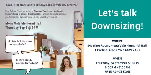 Spring into Mona Vale - Let's Talk About Downsizing!