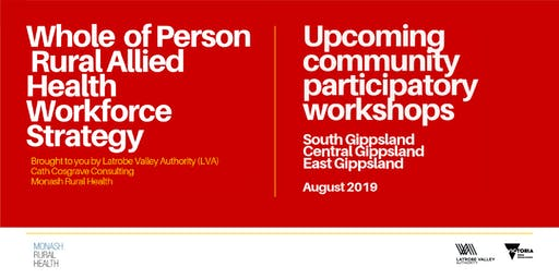 Allied Health Recruitment and Retention Strategy Workshop: Bairnsdale