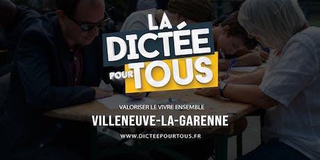La dictée pour tous à Villeneuve-La-Garenne billets