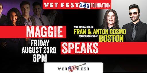 Maggie Speaks w/ Fran & Anton Cosmo, former members of Boston - Vet Fest