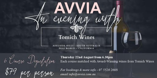 An Evening with Tomich Wines