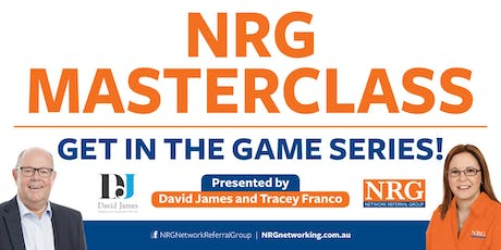 NRG Masterclass - Get in the Game Series! tickets