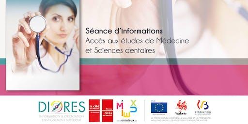 Séance d'informations - Accès aux études de médecine et sciences dentaires