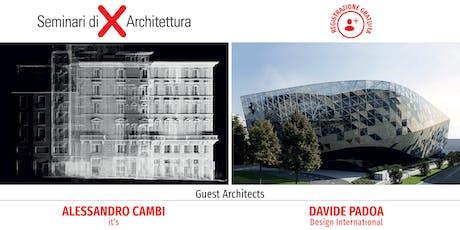 Seminario di Architettura Como - Architettura e design al centro: creatività, tecnologia, ricerca biglietti