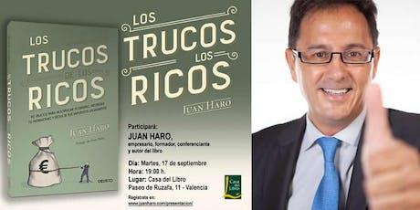 """Presentación del libro: """"Los Trucos de los Ricos"""" en Valencia tickets"""