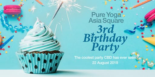 Pure Yoga Asia Square 3rd Birthday Party