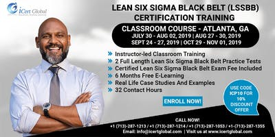 Lean Six Sigma Black Belt (LSSBB) Certification Training Course in Atlanta, GA, USA.