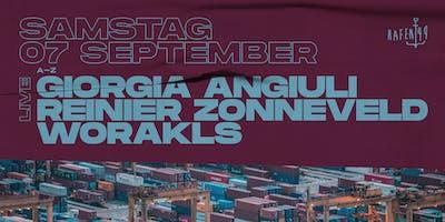 Giorgia Angiuli live, Reinier Zonneveld live & Worakls am Hafen 49