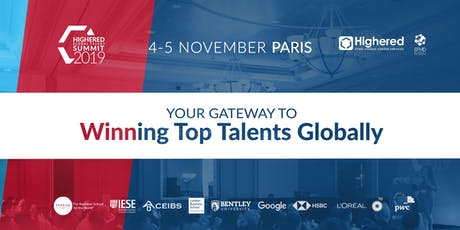 Highered Global Talent Summit - Paris 2019 billets