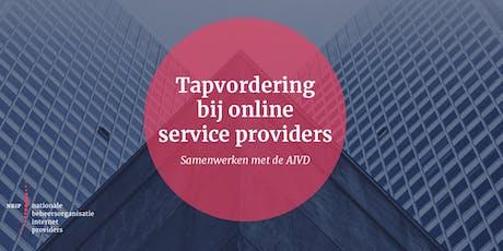 (Tap)vordering bij online service providers tickets