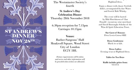 St Andrews Day Celebration Dinner  tickets