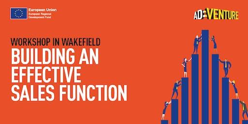 Adventure Business Workshop in Wakefield - Building an Effective Sales Function