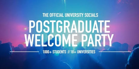Postgraduate Welcome Party // 2019 tickets
