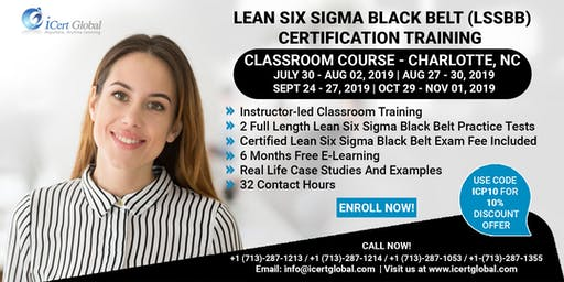 Lean Six Sigma Black Belt (LSSBB) Certification Training Course in Charlotte, NC, USA.