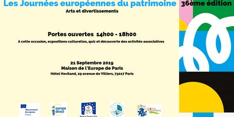 Les journées européennes du patrimoine - 36ème édition - Portes ouvertes billets