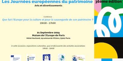 Les Journées européennes du patrimoine - 36e édition - Conférence