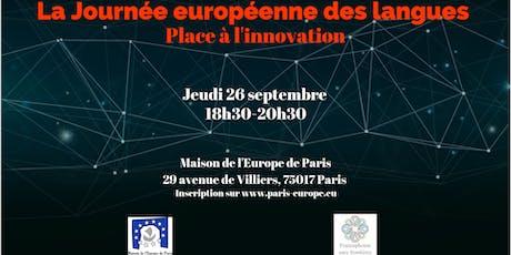 La Journée européenne des langues : place à l'innovation billets