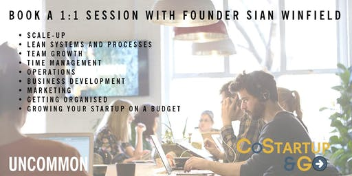 Startup, Scale up or Operations Advice 1:1 Sessions