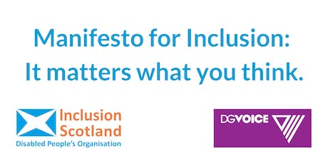 Manifesto for Inclusion: It matters what you think. tickets