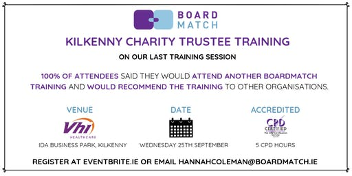 Boardmatch: Kilkenny Charity Trustee Training (CPD Certified)