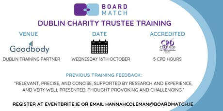 Boardmatch: Dublin Charity Trustee Training (CPD Certified) tickets