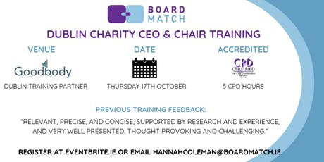 Boardmatch: Dublin Charity CEO & Chair Training (CPD Certified) tickets