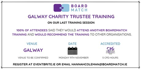 Boardmatch: Galway Charity Trustee Training (CPD Certified) tickets