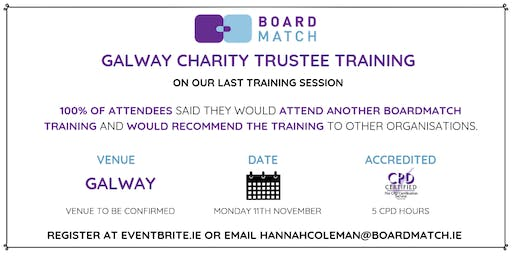 Boardmatch: Galway Charity Trustee Training (CPD Certified)