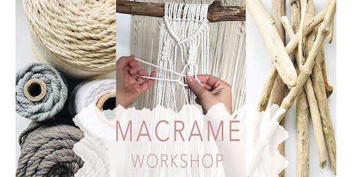Macrame Wall Hanging Workshop - For Beginners
