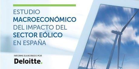 Presentación Estudio Macroeconómico del Impacto del Sector Eólico en España. Datos 2018 entradas