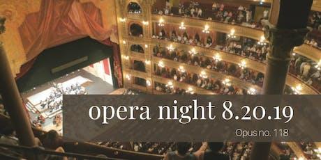 August Opera Night at Servino tickets
