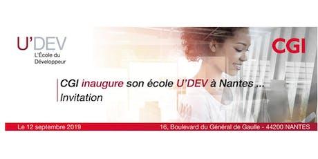 CGI inaugure son école U'DEV à Nantes billets