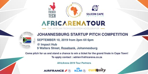 Johannesburg Startup Pitch Event - AfricArena Tour 2019