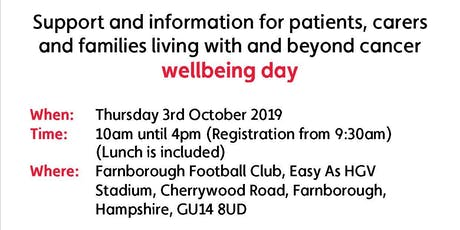 Cancer Health and Wellbeing tickets