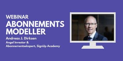 Webinar: Abonnementsmodeller m. Andreas J. Dirksen