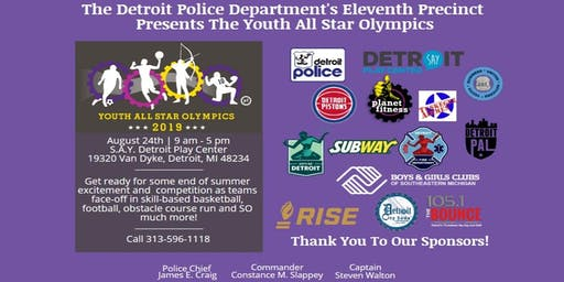 The Detroit Police Department's 11th Precinct Youth All Star Olympic Games