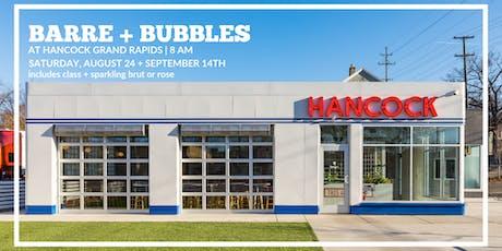 Barre + Bubbles @ Hancock Grand Rapids tickets