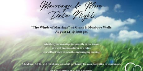"""""""Winds of Marriage"""" with Grant & Monique Wells - Couple's Date Night tickets"""