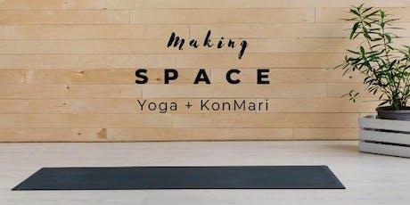 Making S P A C E : a Yoga + KonMari workshop tickets